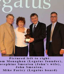 Picture of Legatus award to John Smeaton