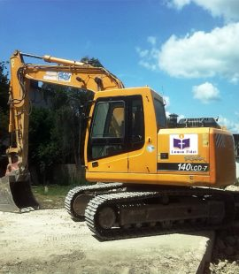 Picture of JCB at construction site