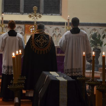 Priests with Catafalque